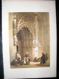 Louis Haghe 1850 LG Folio Antique Print. Church of St. Sebald, Nuremberg Germany