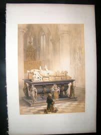 Louis Haghe 1850 LG Folio Print. Tomb of de Merode's Family, Gheel Belgium