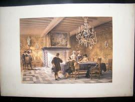 Louis Haghe 1850 LG Print. The Brewers Corporation Room, Antwerp, Belgium
