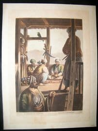 Luigi Mayer 1804 Antique Hand Col Print. A Caramanian Waiwode, Egypt