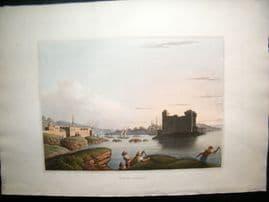 Luigi Mayer 1810 Antique Hand Col Print. Port of Catachia, Syria