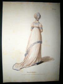 Madame Lanchester Le Miroir de la Mode 1803 HC Regency Fashion Print. Half Dress