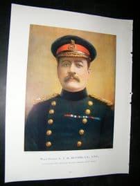 Maj-Gen E.T.H Hutton 1900 Portrait Print. Boer War