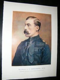 Maj-Gen J.F Brocklehurst 1900 Military Portrait Print. Boer War