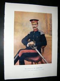 Maj-Gen J.M Babington 1900 Military Portrait Print. Boer War