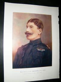 Maj-Gen J.P Brabazon 1900 Military Portrait Print. Boer War