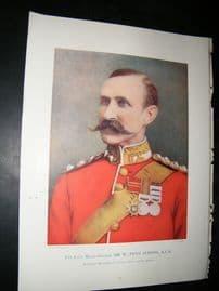 Maj-Gen W.Penn Symons 1900 Portrait Print.  Boer War