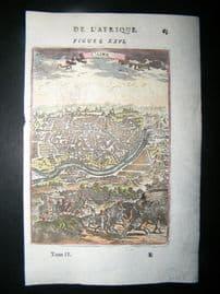 Mallet 1683 Antique Hand Col Print. Caire, Cairo, Egypt