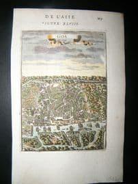 Mallet 1683 Antique Hand Col Print. Goa, India