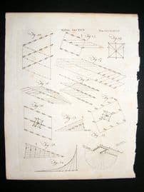 Maritime C1790 Antique Print. Naval Tactics 497