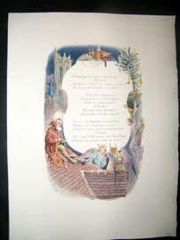 Maurice Leloir & Doucet 1904 Folio Hand Col Print. Christmas, Angels