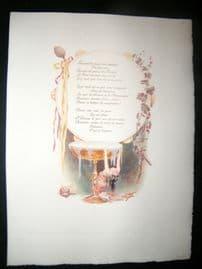 Maurice Leloir & Doucet 1904 Folio Hand Col Print. Decorative