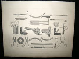Miles Practical Farriery C1875 Print. Veterinary Instruments & Apparautus