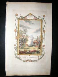 Military 1781 HC Print. Battle Bunkers Hill American Revolution, Boston Siege