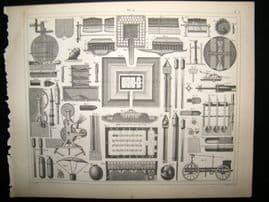 Military 1857 Antique Print. Machines of War 40