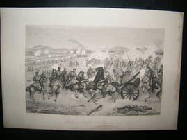 Military 1884 Franco Prussian War Print. Battle of Belfort