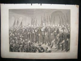 Military 1884 Franco Prussian War. King William Proclaimed Emperor, Versaille
