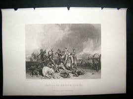 Military C1870 Antique Print. Battle of Hopton Heath