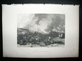 Military C1870 Antique Print. Battle of Naseby