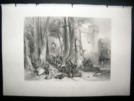 Military C1870 Antique Print. Siege of Lathom House
