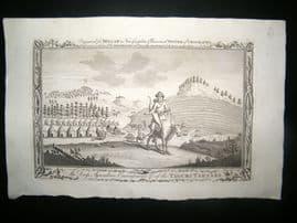Millar 1782 Folio Antique Print. Dress & Encampment of Taguri-Tartars, Russia