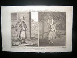 Millar 1782 Folio Antique Print. Manner of Smoking in Persia