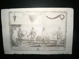 Millar 1782 Folio Antique Print. Mississippi Indians of North America. USA