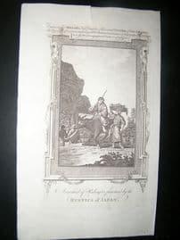 Millar 1782 Folio Antique Print. Rustics of Japan