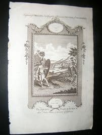 Millar 1782 Folio Antique Print. The Jagas a People of Africa
