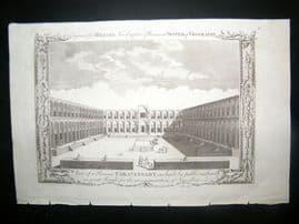 Millar 1782 Folio Antique Print. View of a Persian Caravansary