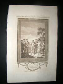 Millar 1782 Folio Print. Doughty beheaded by order of Francis Drake. Patagonia