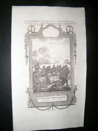 Millar 1782 Folio Print. Natives of the Caribee Islands, West Indies. Cannibals