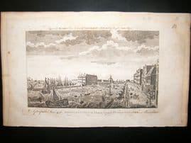Moore C1782 Folio Antique Print. Admiralty Office & Dock Yard, Amsterdam
