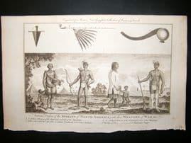 Moore C1782 Folio Antique Print. Mississippi North American Indians, USA