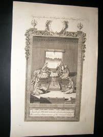 Moore C1782 Folio Print. Inside of a Mussulman's Zanannah, Indonesia India