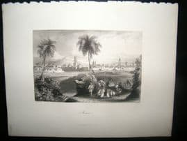 Morocco 1847 Antique Print. Morocco