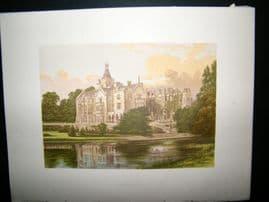 Morris Seats C1870's Antique Print. Adare Manor, Adare, County Limerick, Ireland