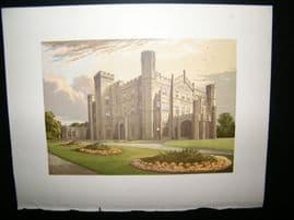 Morris Seats C1870's Antique Print. Apley Park, Bridgnorth, Shropshire