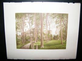 Morris Seats C1870's Antique Print. Appleby Castle, Appley, Westmoreland,