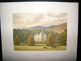 Morris Seats C1870's Antique Print. Ardtully, Kenmore, Kerry