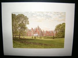 Morris Seats C1870's Antique Print. Bagshot Park, Surrey Windsor
