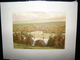 Morris Seats C1870's Antique Print. Barons Court, County Tyrone, Ireland