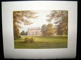 Morris Seats C1870's Antique Print. Bearwood,Workingham Berkshire.
