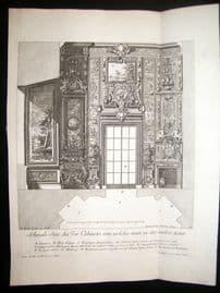 Paul Decker 1711 Folio Baroque Architectural Print. Cabinets 32