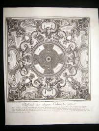 Paul Decker 1711 Folio Baroque Architectural Print. Floor 49