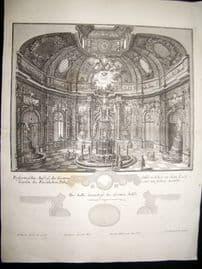 Paul Decker 1711 Folio Baroque Architectural Print. Interior 11