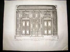 Paul Decker 1711 Folio Baroque Architectural Print. Wall 17