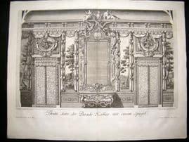 Paul Decker 1711 Folio Baroque Architectural Print. Wall & Grand Mirror 30