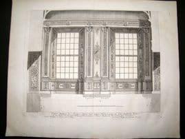 Paul Decker 1711 Folio Baroque Architectural Print. Windows 15