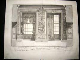 Paul Decker 1711 Folio Baroque Architectural Print. Windows & Curtains 27